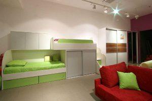 Eine vollständige Renovierung des Schlafzimmers und Kinderzimmers