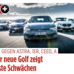 VW Golf 8 im Vergleichstest (BILDplus) Der neue Golf zeigt erste Schwächen
