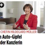BILDplus: VDA-Chefin Müller im Interview Auto-Gipfel bei der Kanzlerin fällt aus