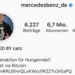 Hackerangriff auf Mercedes-Account bei Instagram Hackerangriff mit Hakenkreuz und Girls