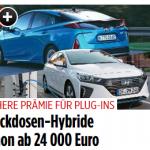 Höhere Kaufprämie für Plug-in-Hybride (BILDplus) Fünf Plug-in-Hybride ab 24.000 Euro