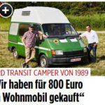 Wohnmobil für 800 Euro (BILDplus) Ein Wohnmobil aus dem Jahr 1989 für 800 Euro - lohnt sich der Kauf?